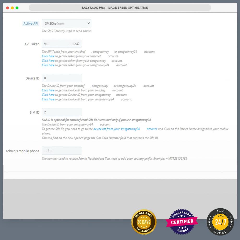 module - Newsletter & SMS - Notifiche SMS gratuite tramite la propria rete - 25