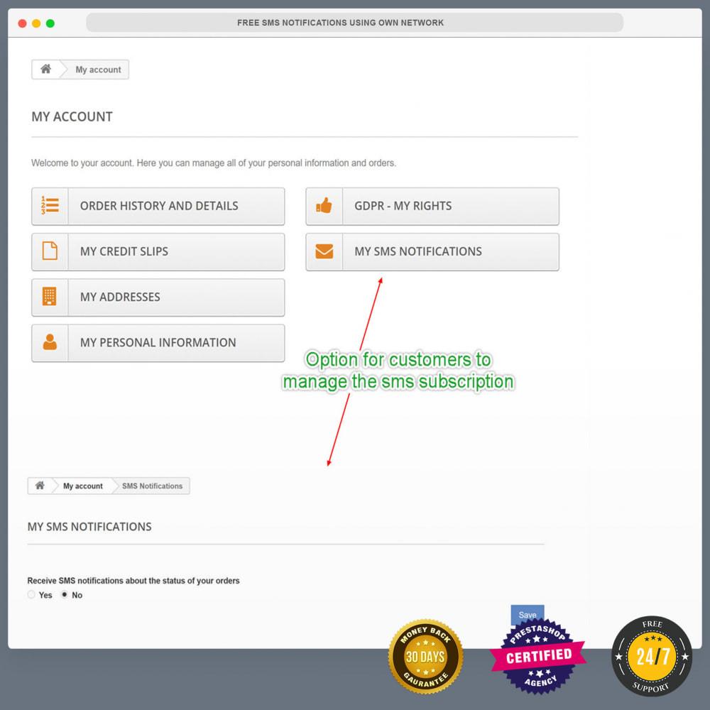 module - Boletim informativo & SMS - Notificações SMS gratuitas usando sua própria rede - 30