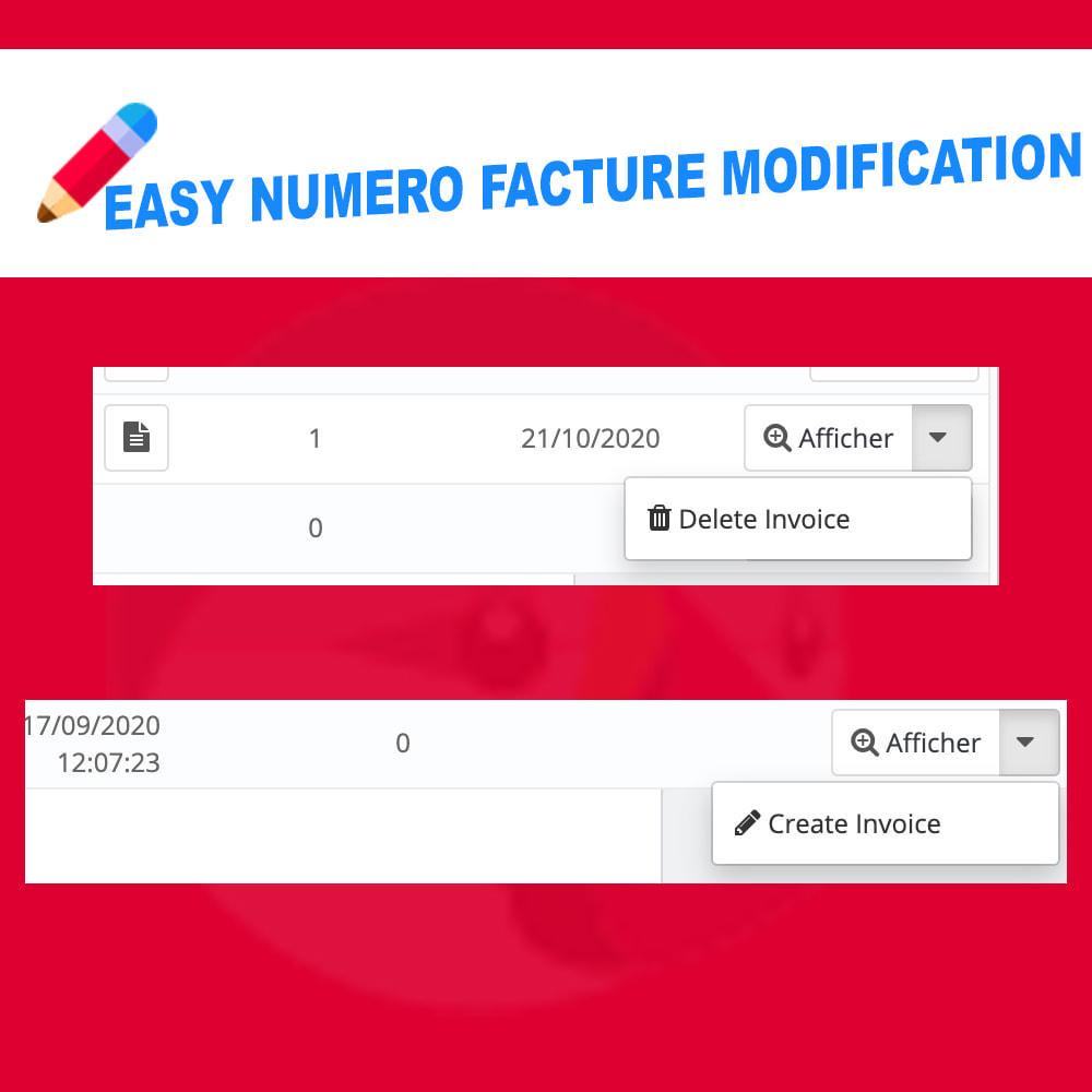 module - Pagamento por fatura - Edit Delete and create invoice number - 2