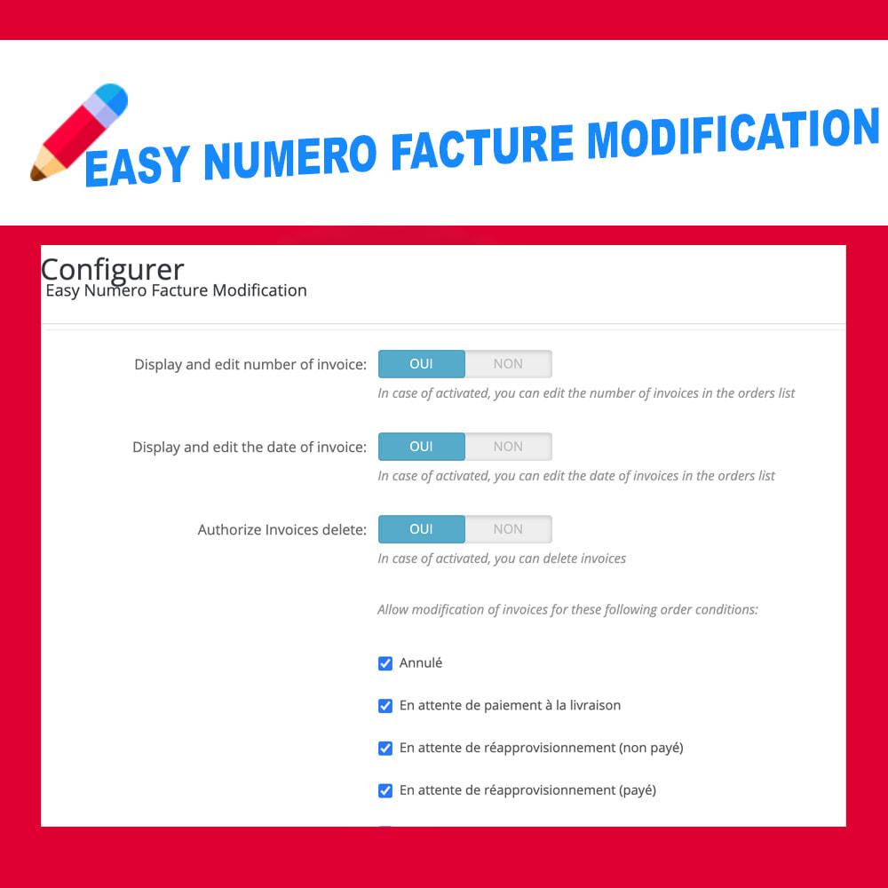 module - Pagamento por fatura - Edit Delete and create invoice number - 4