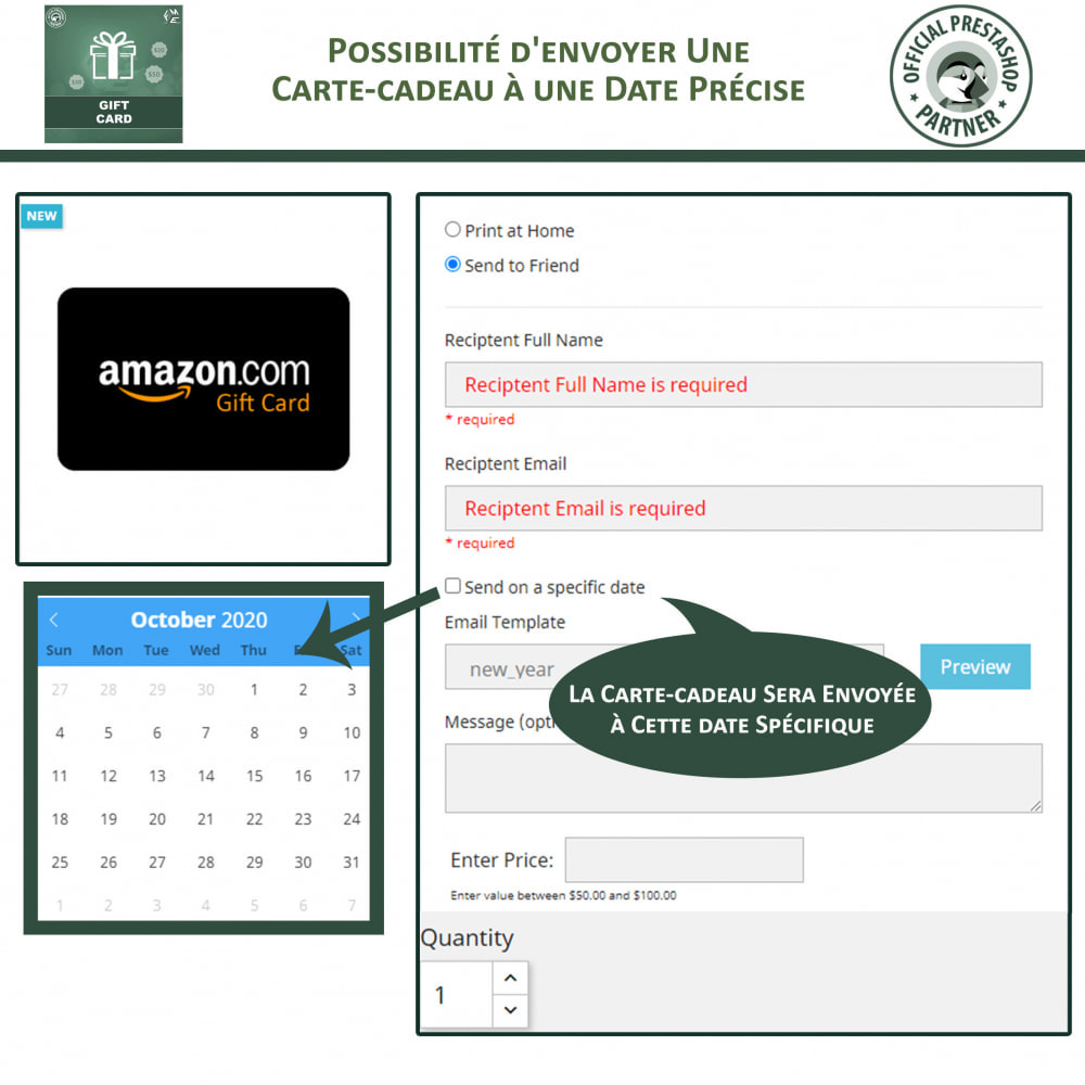 module - Liste de souhaits & Carte cadeau - Carte Cadeau - 4