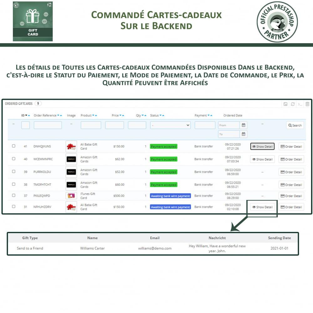module - Liste de souhaits & Carte cadeau - Carte Cadeau - 16