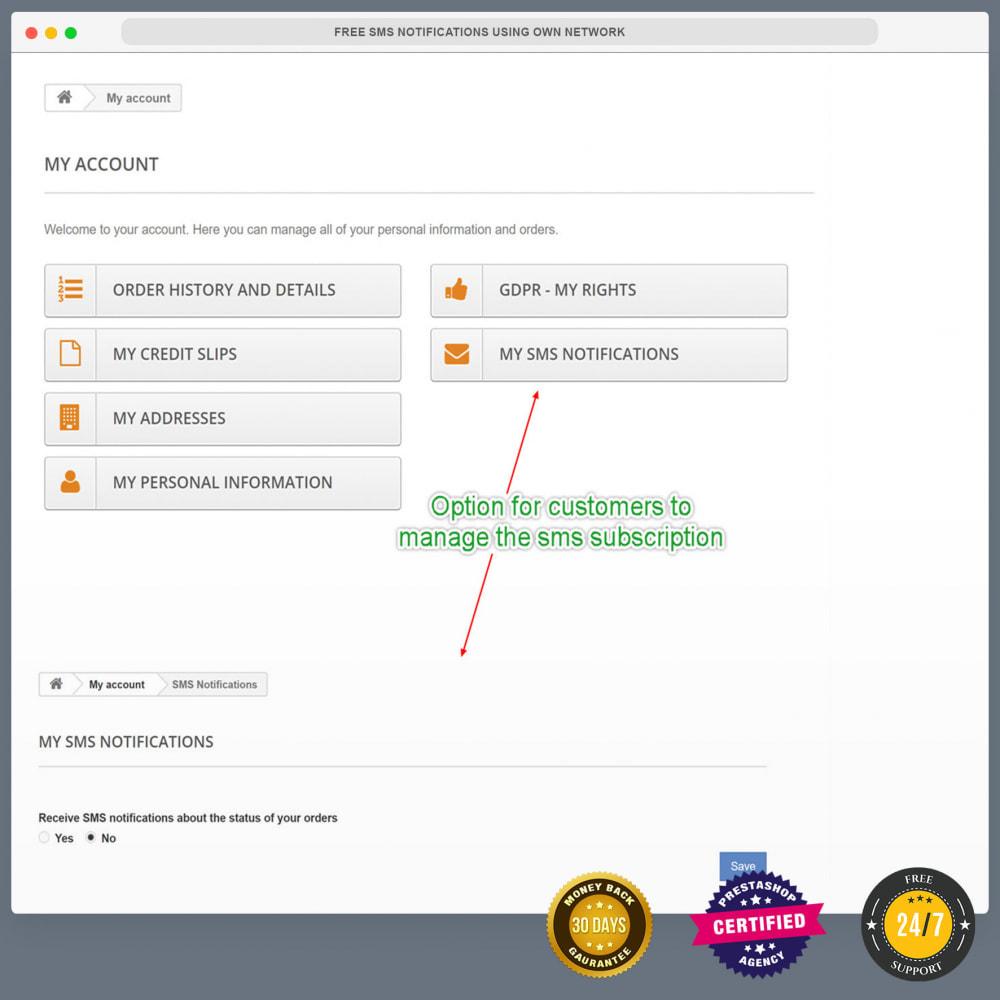 module - Newsletter & SMS - Notifiche SMS gratuite tramite la propria rete - 24
