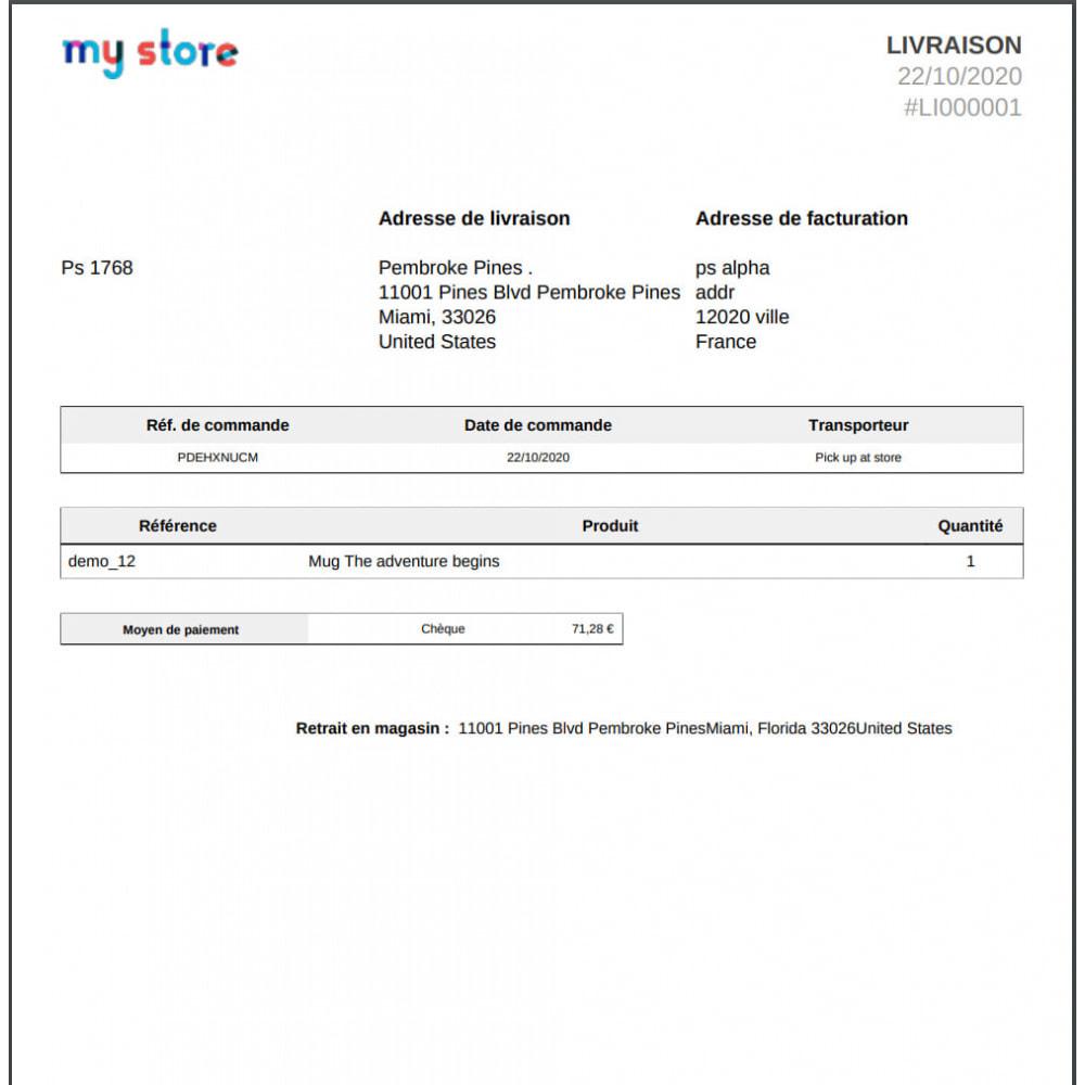 module - Point Relais & Retrait en Magasin - Retrait au magasin avec remplacement d'adresse - 7