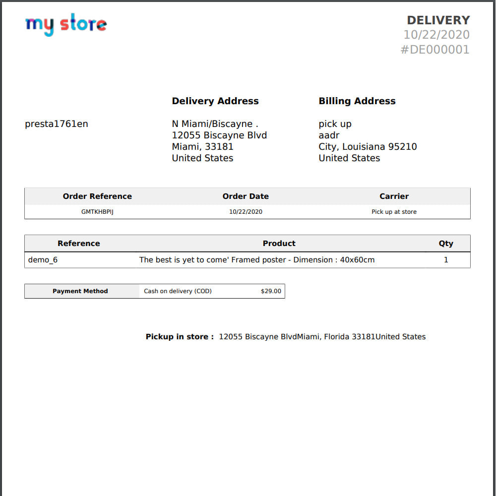 module - Collection Points & In-Store Pick Up - Pick Up at store module with address replacement - 7