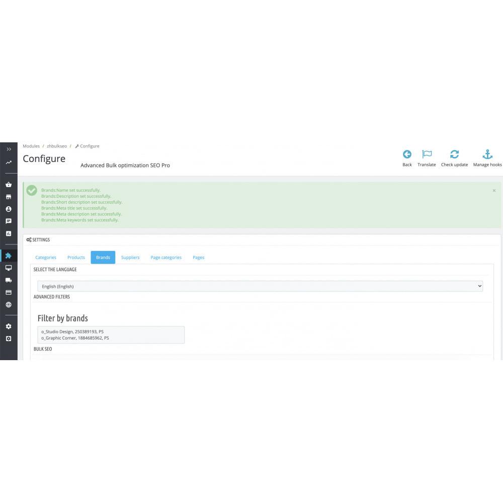 module - SEO (Indicizzazione naturale) - Advanced Bulk/Batch optimization SEO Pro - 9