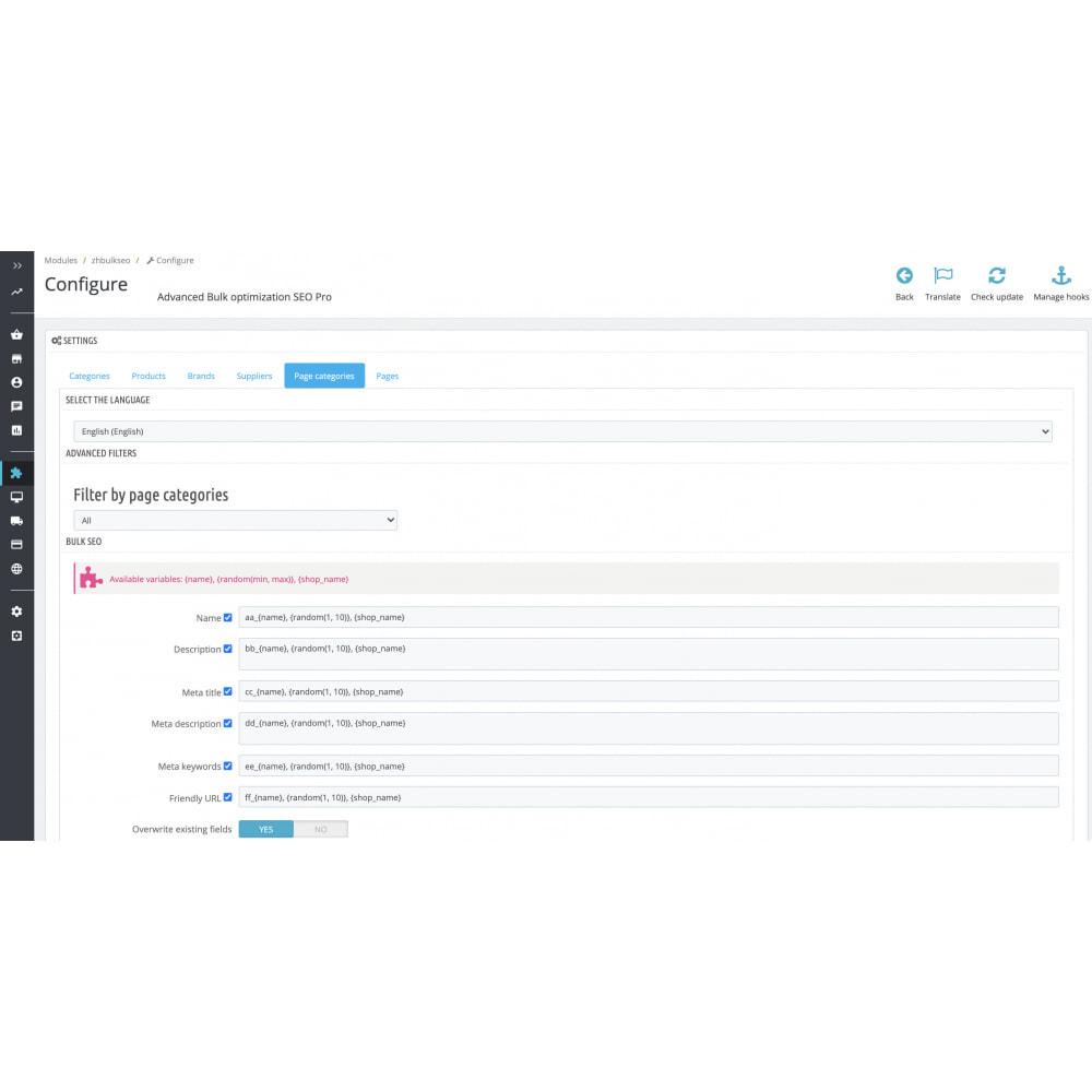 module - SEO (Indicizzazione naturale) - Advanced Bulk/Batch optimization SEO Pro - 14