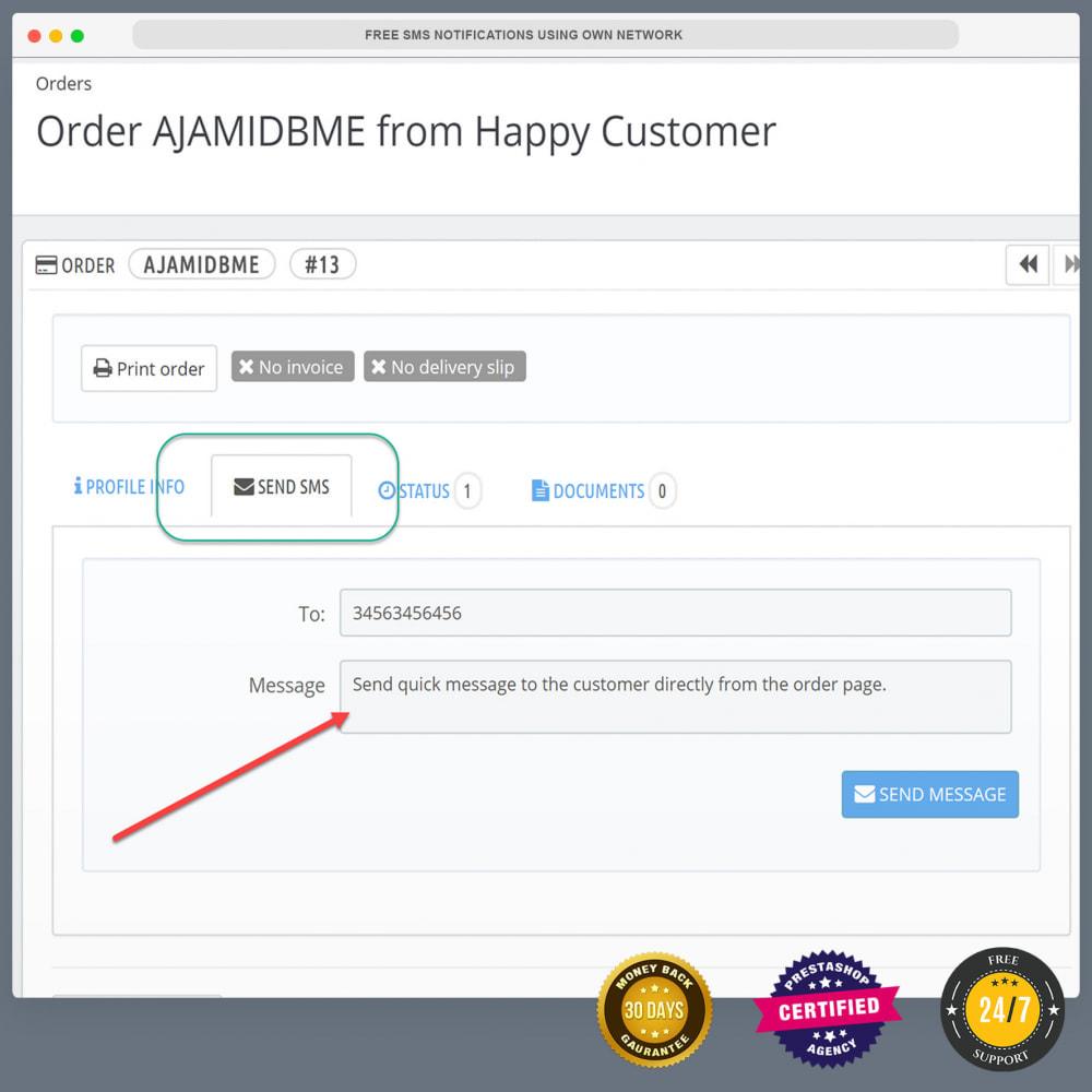 module - Newsletter & SMS - Notifications SMS gratuites en utilisant propre réseau - 4