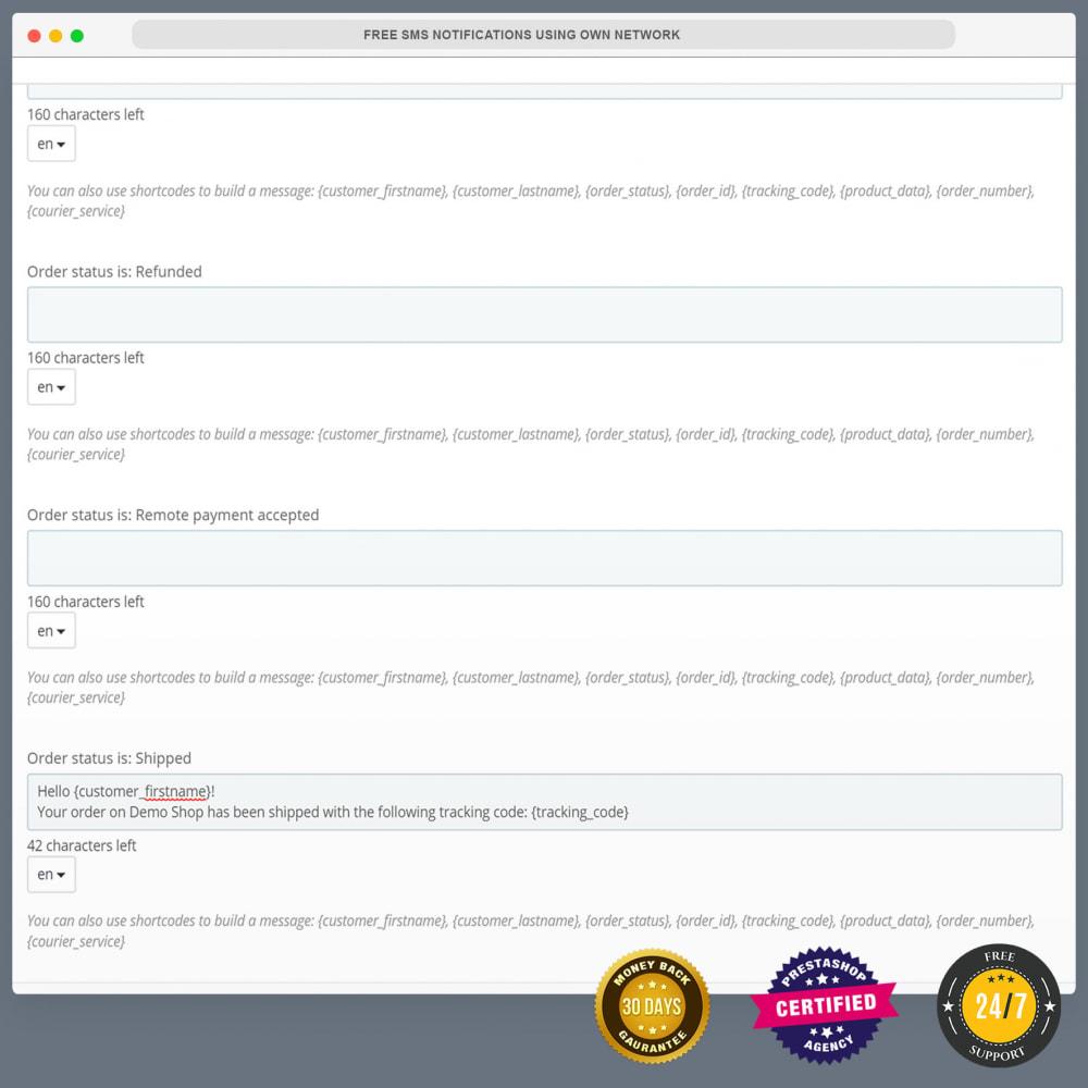 module - Newsletter y SMS - Notificaciones de SMS gratuitas usando una red propia - 9
