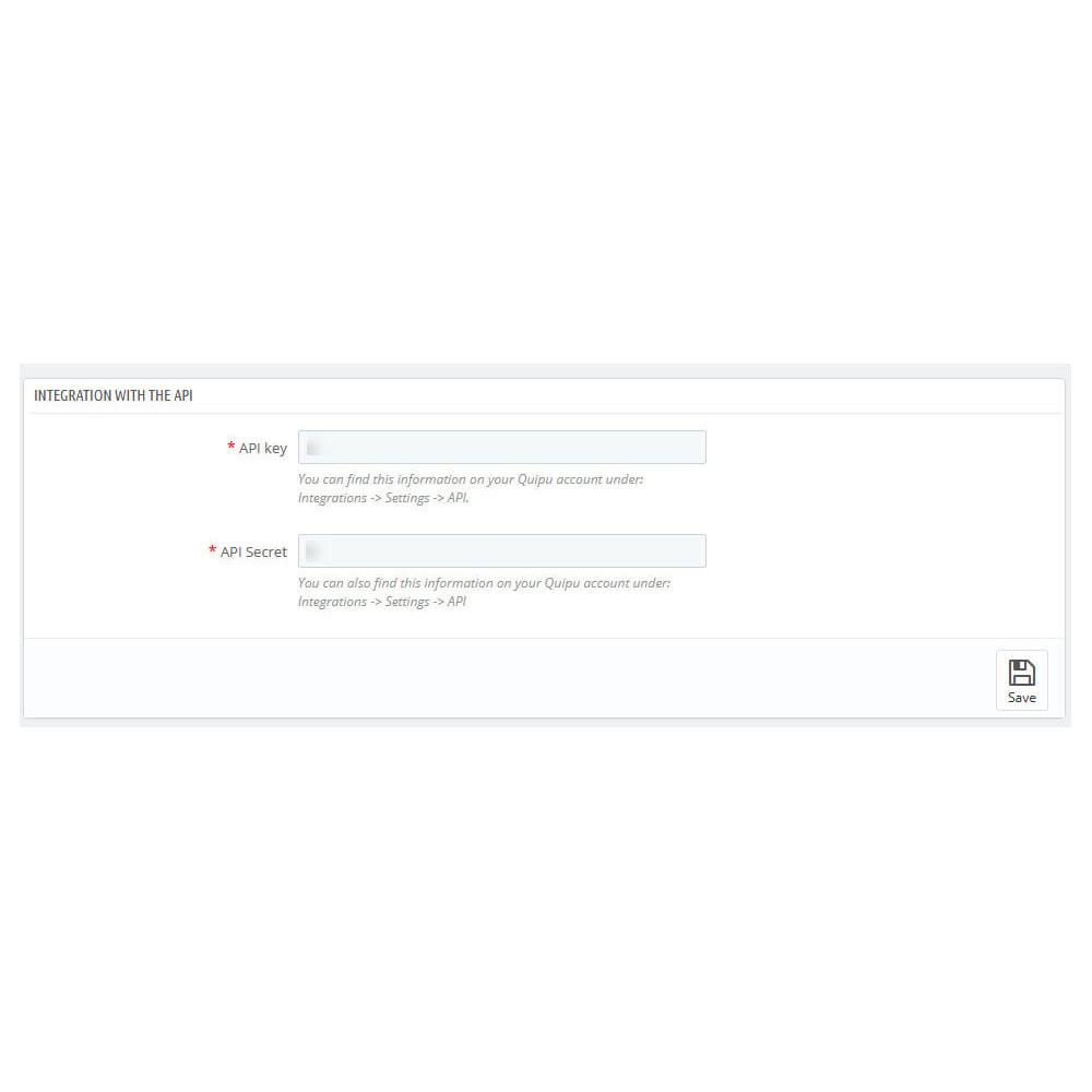module - Connexion à un logiciel tiers (CRM, ERP...) - Official Quipu Connector - 3