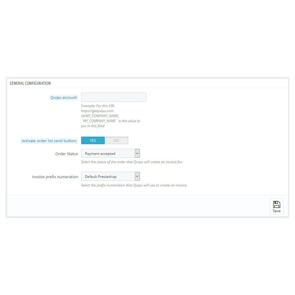 module - Connexion à un logiciel tiers (CRM, ERP...) - Official Quipu Connector - 4