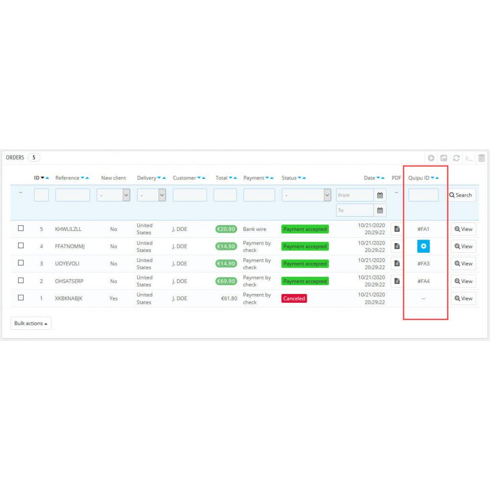 module - Connexion à un logiciel tiers (CRM, ERP...) - Official Quipu Connector - 7