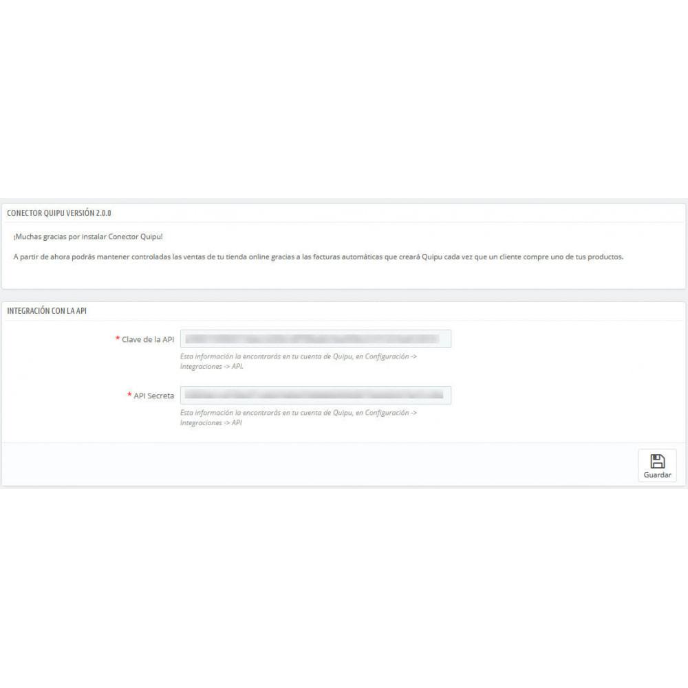module - Integración con CRM, ERP... - Conector Quipu Oficial - 3