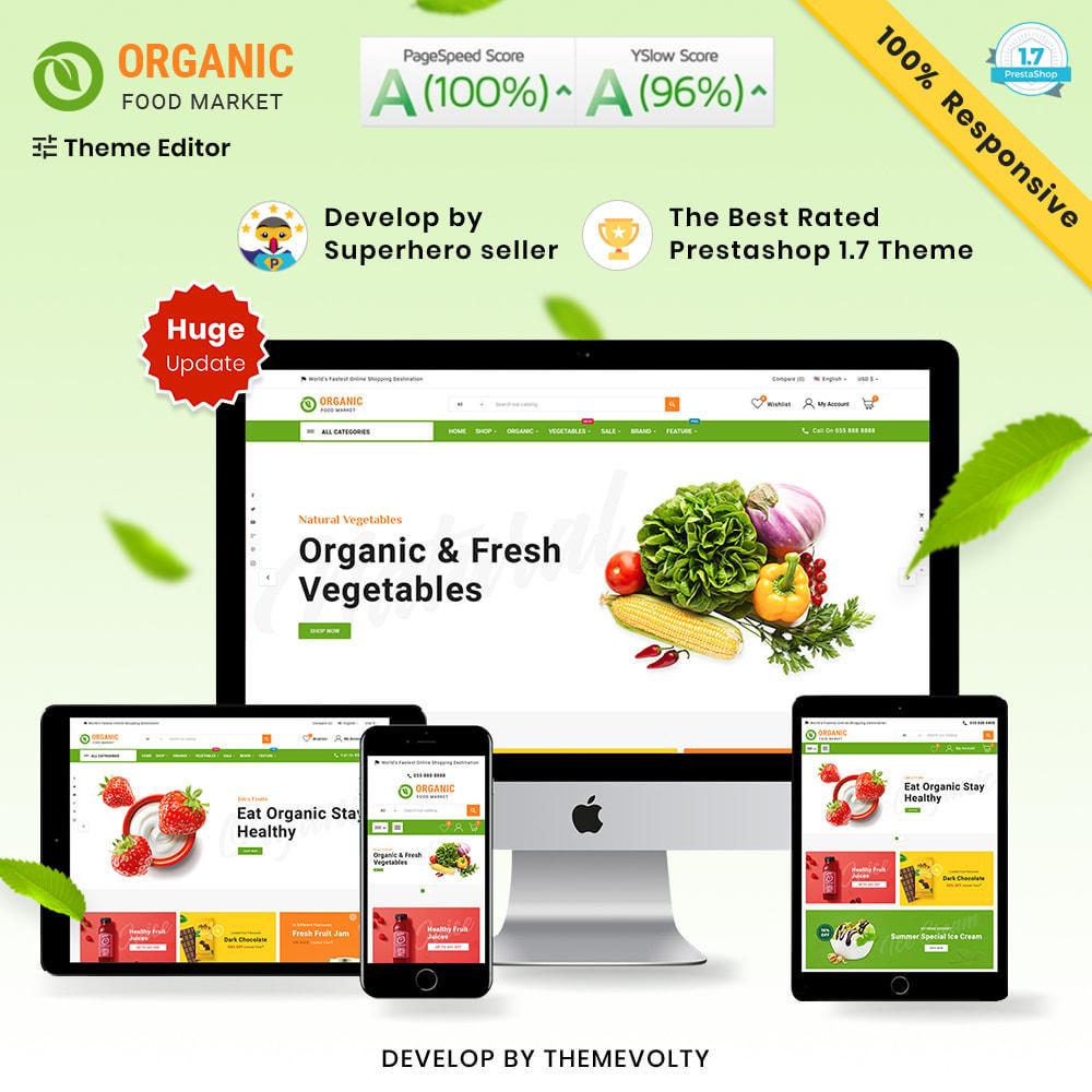 theme - Alimentos & Restaurantes - Organic Mega–Food and Fresh–Grocery Super Store - 1