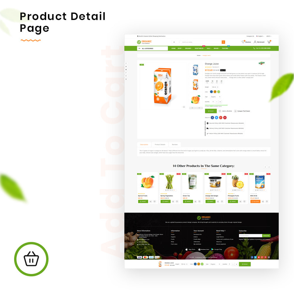 theme - Alimentos & Restaurantes - Organic Mega–Food and Fresh–Grocery Super Store - 4