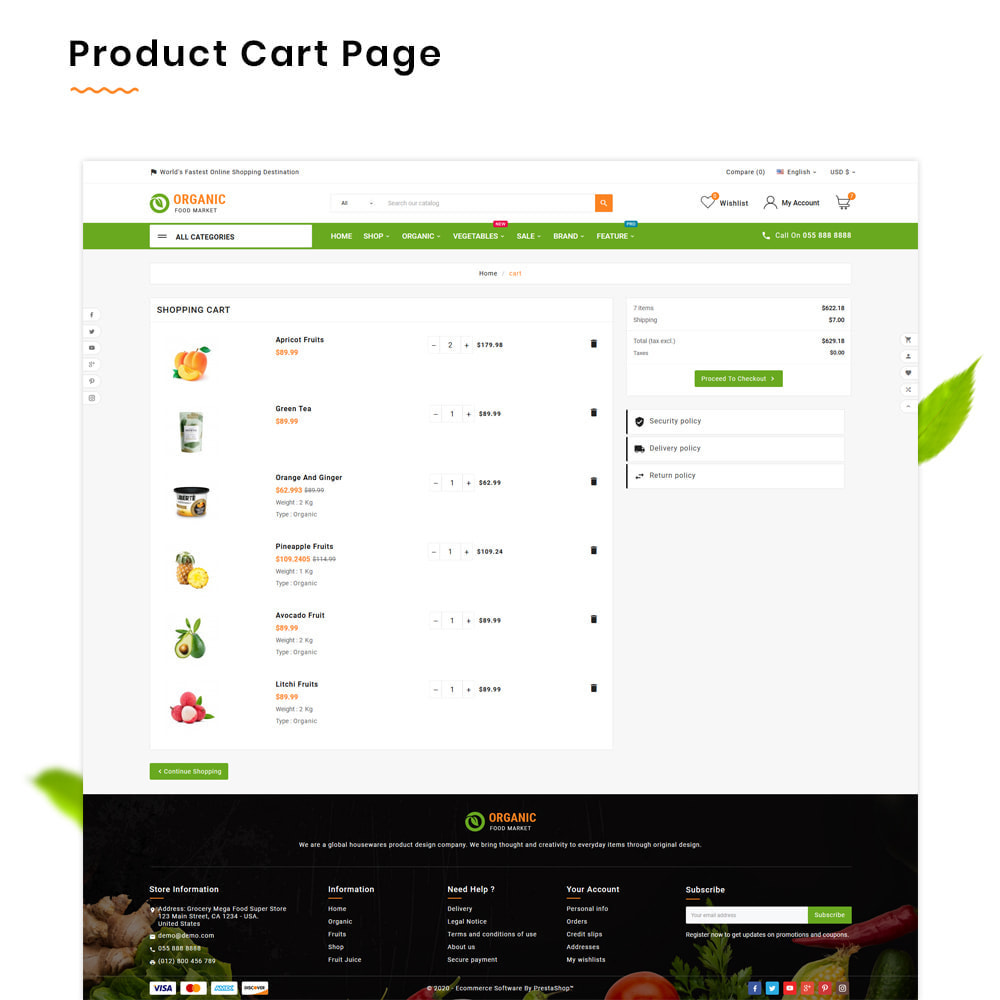 theme - Alimentos & Restaurantes - Organic Mega–Food and Fresh–Grocery Super Store - 5