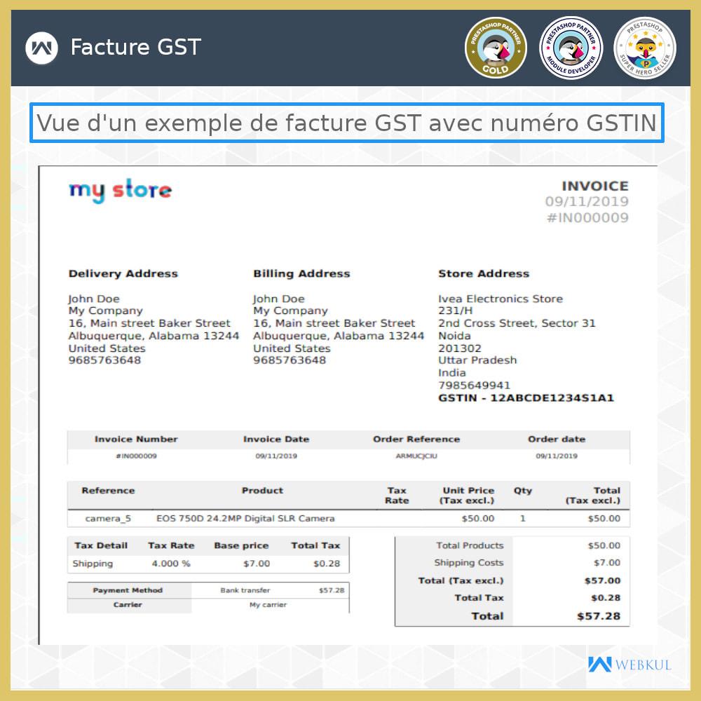 module - Comptabilité & Facturation - GST - Retours et factures - 2