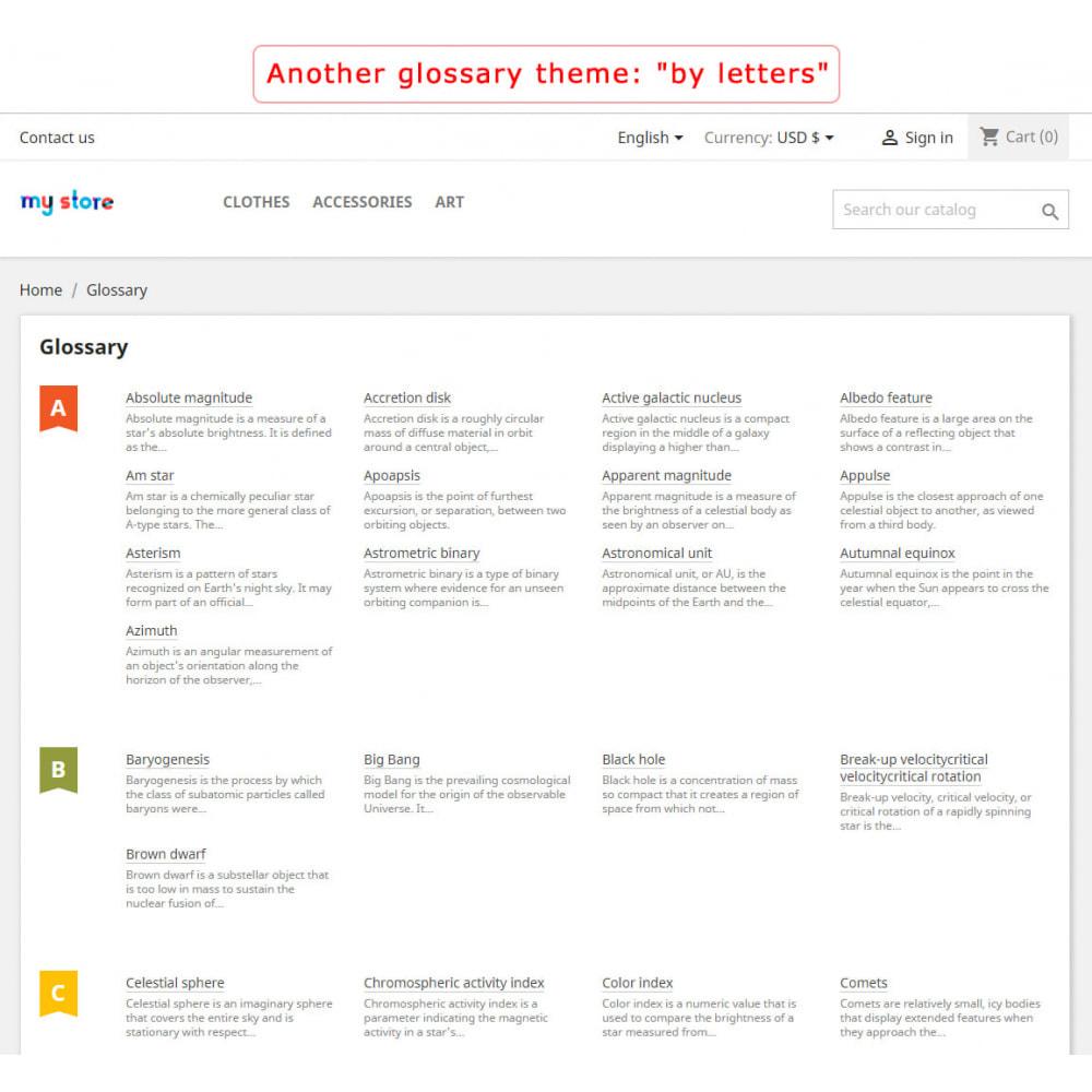 module - Page Customization - Super Glossary - 2
