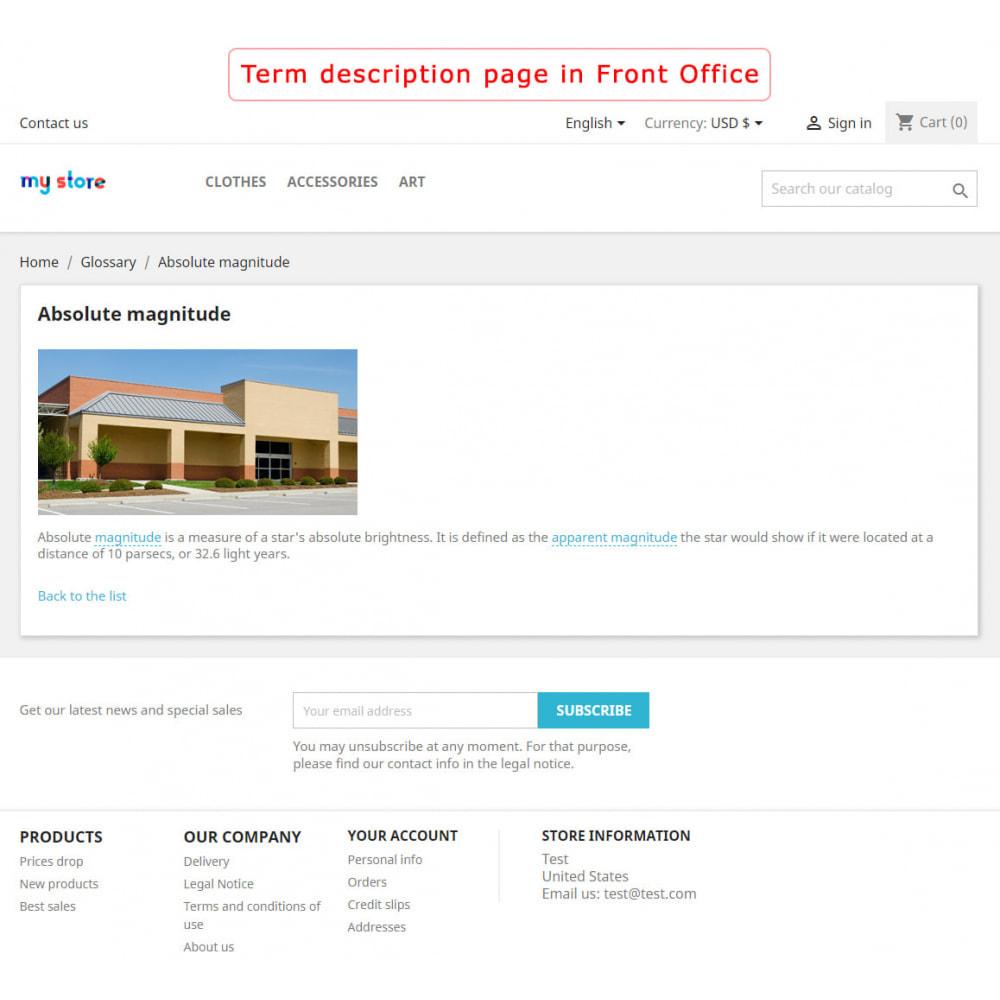 module - Page Customization - Super Glossary - 4