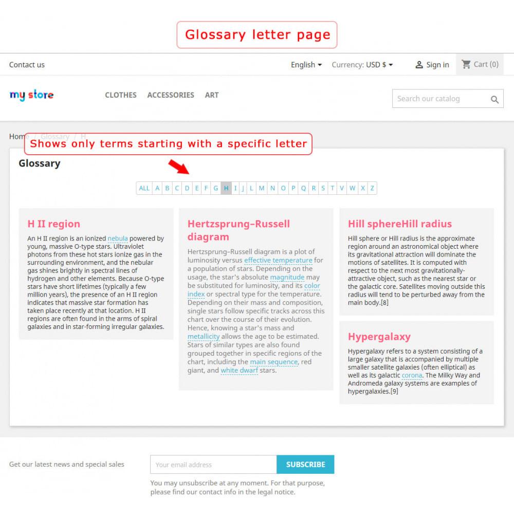 module - Page Customization - Super Glossary - 7