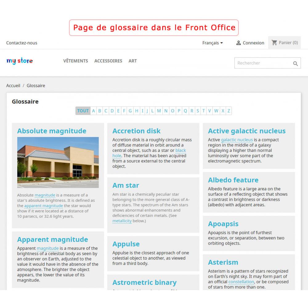 module - Personnalisation de Page - Super Glossaire - 1