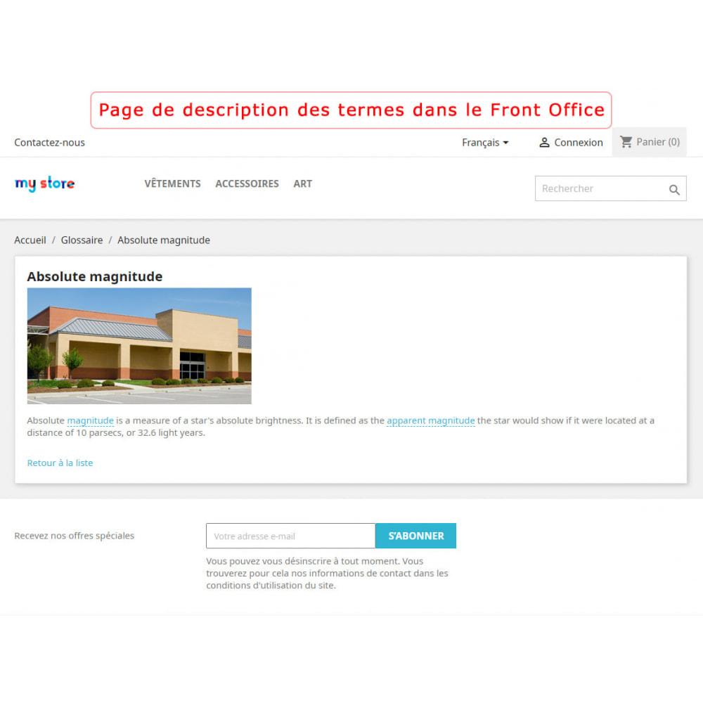 module - Personnalisation de Page - Super Glossaire - 4
