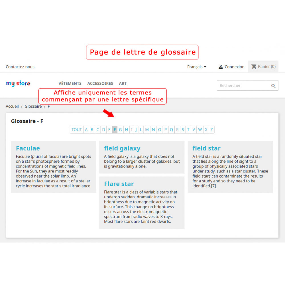 module - Personnalisation de Page - Super Glossaire - 7
