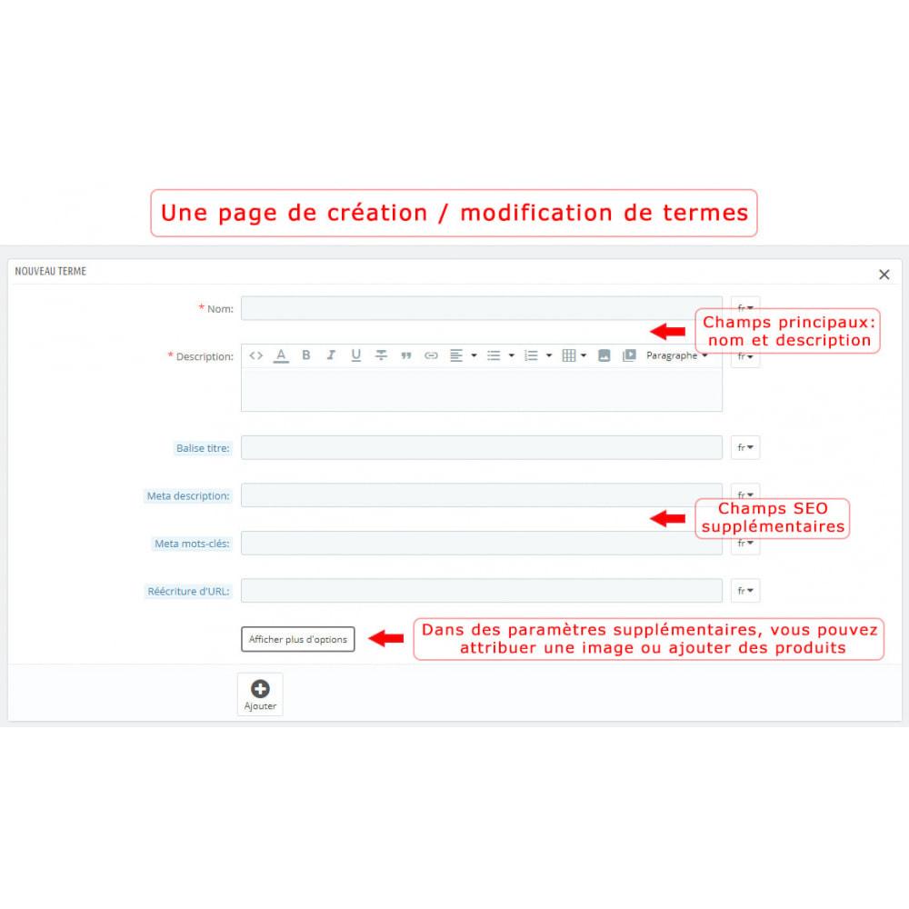 module - Personnalisation de Page - Super Glossaire - 9