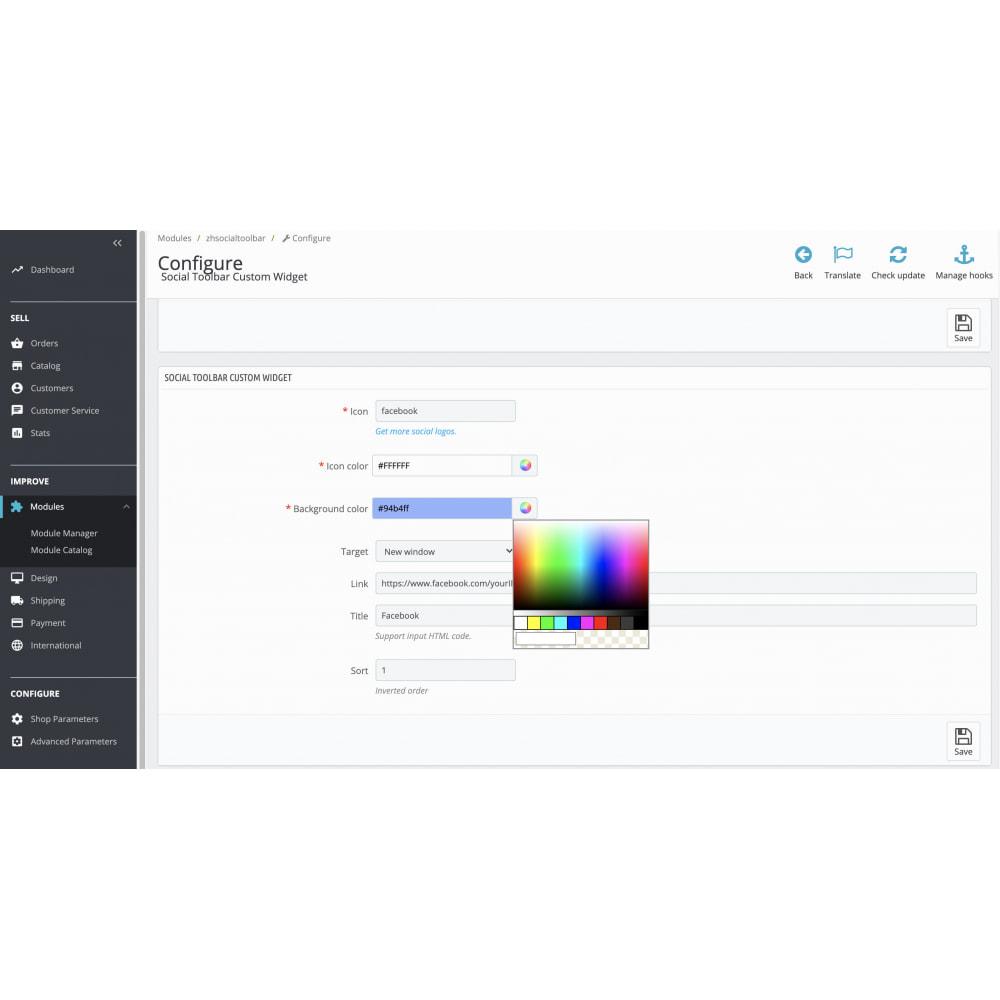 module - Widgety serwisów społecznościowych - Social Media Toolbar Custom Sidebar Widget - 2