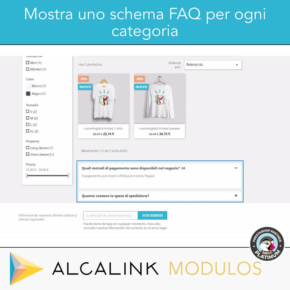 module - FAQ (Domande Frequenti) - FAQ Schema in categorie - SEO speciale in Google - 2