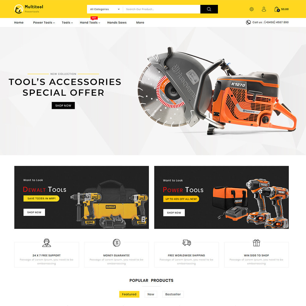theme - Automotive & Cars - Multitool - Mega Power Tool Store - 2