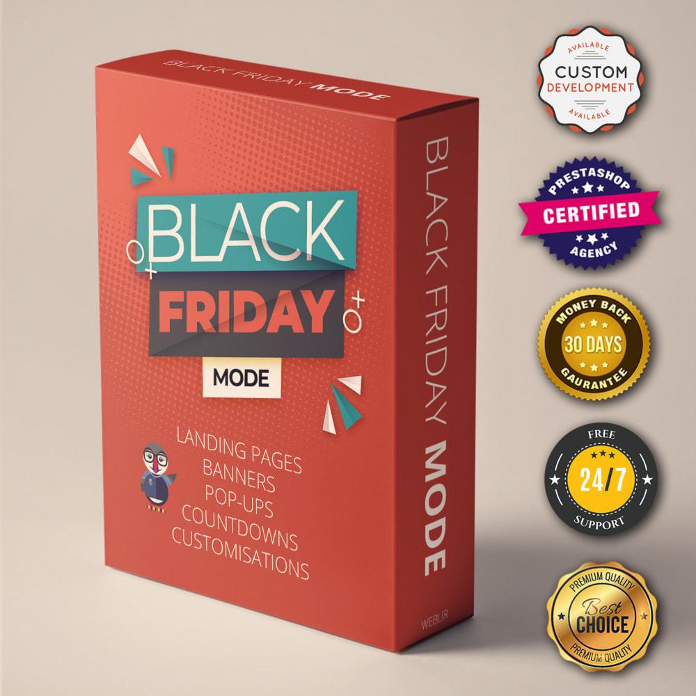 module - Promoties & Geschenken - Black Friday Promo - Promotiespagina, aftellen, pop-up - 1