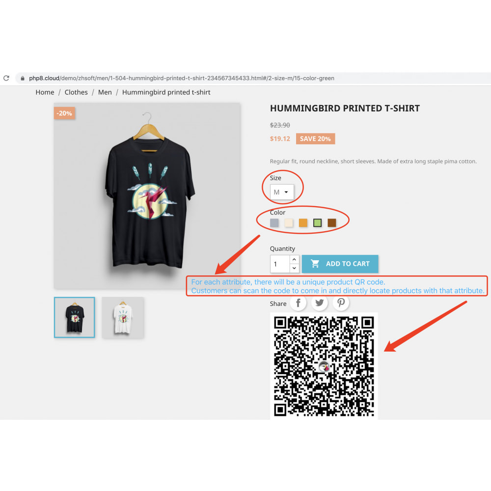 module - Dispositivi mobili - QR code scan generator that supports product attributes - 2