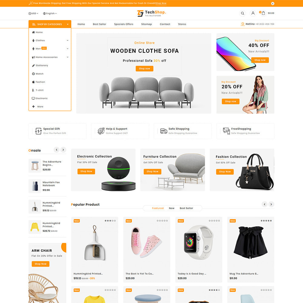 theme - Electronics & Computers - TechShop  - New Shopping Supermarket Store - 4