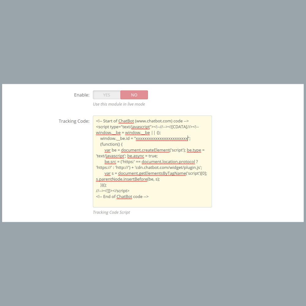 module - Widgets de Redes Sociais - ChatBot Widget Integration - 3