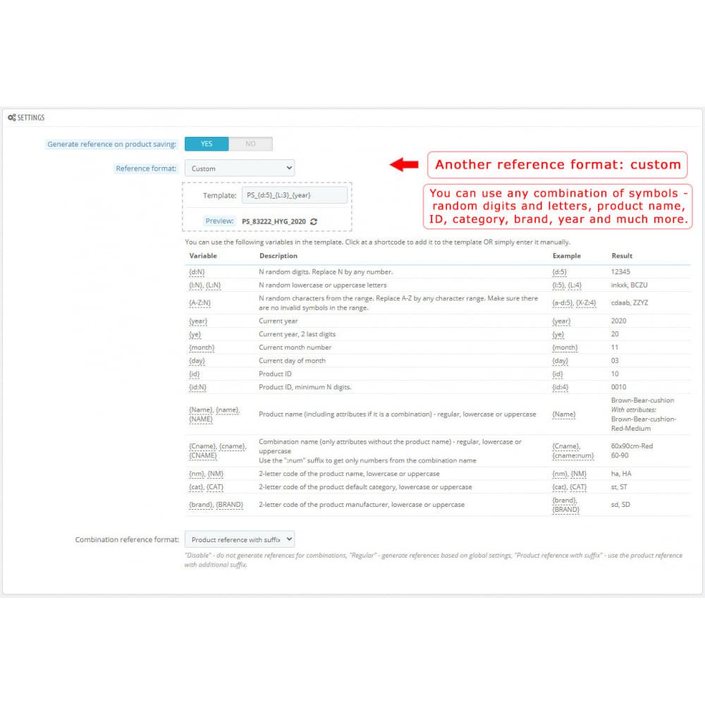 module - Voorbereiding & Verzending - Product Reference Generator - 4