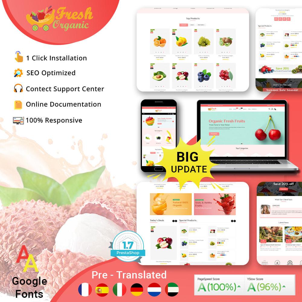 theme - Żywność & Restauracje - Mavrick Organic Fresh Food Multipurpose Online Store - 1