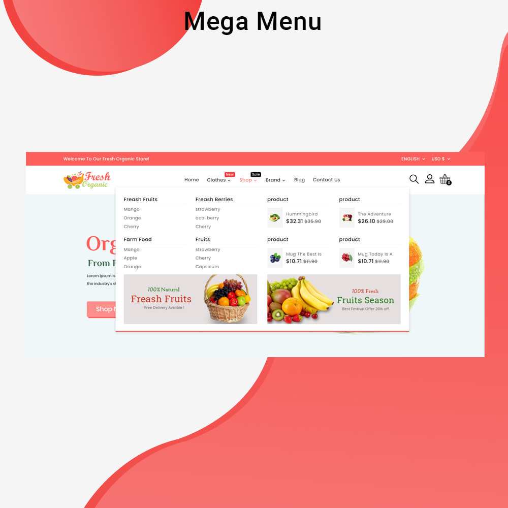 theme - Żywność & Restauracje - Mavrick Organic Fresh Food Multipurpose Online Store - 3