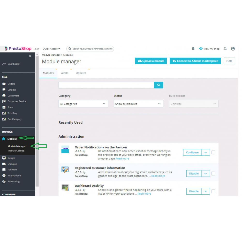 module - Дополнительной информации и вкладок товара - Custom Size Chart - 1
