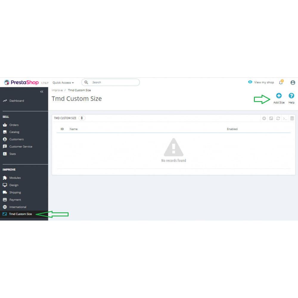 module - Дополнительной информации и вкладок товара - Custom Size Chart - 7