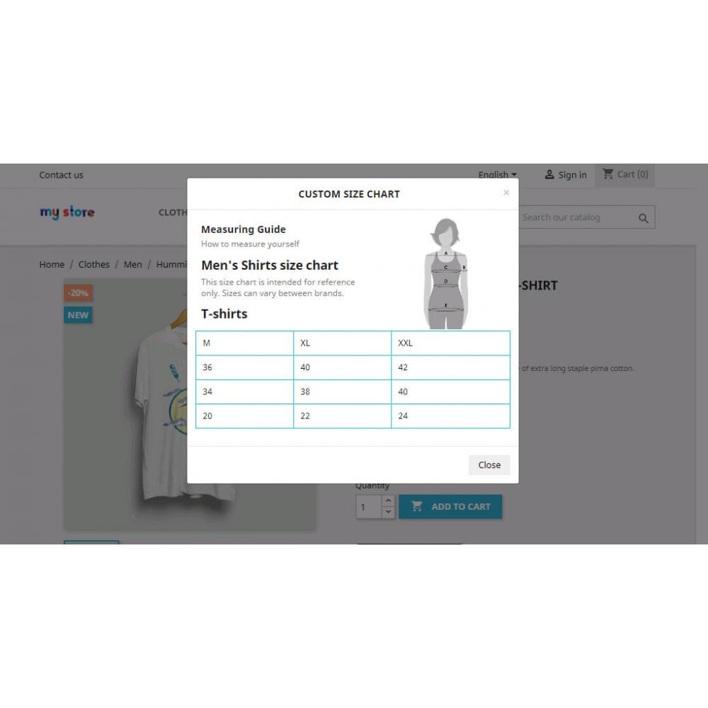 module - Дополнительной информации и вкладок товара - Custom Size Chart - 19