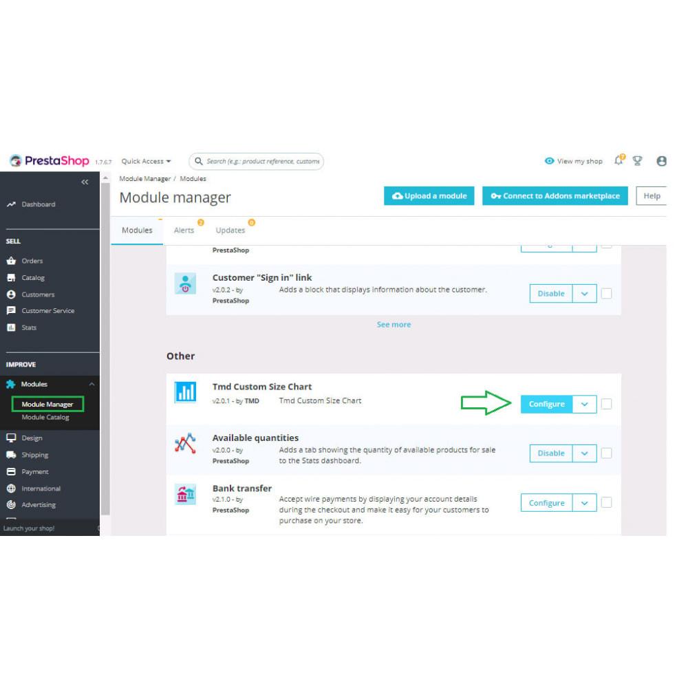 module - Дополнительной информации и вкладок товара - Custom Size Chart - 20