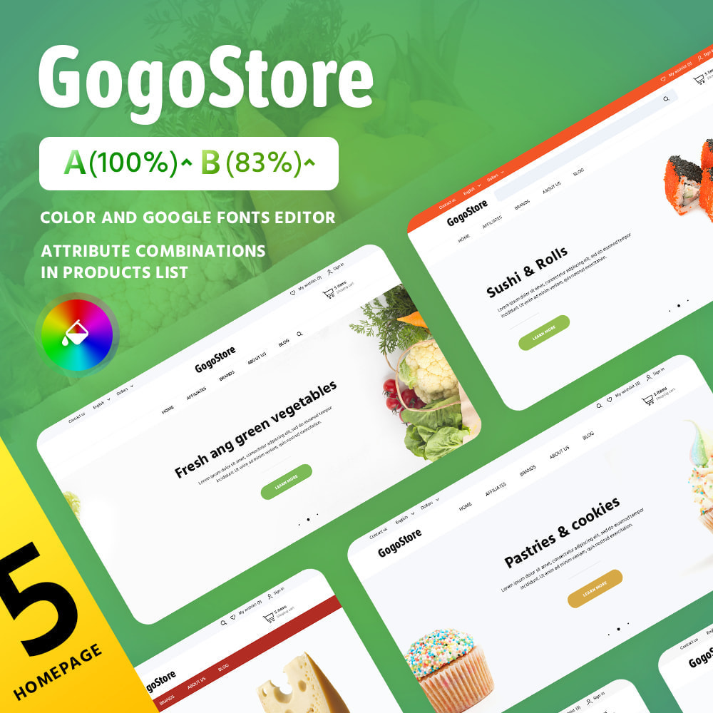 theme - Alimentation & Restauration - GogoStore - 2
