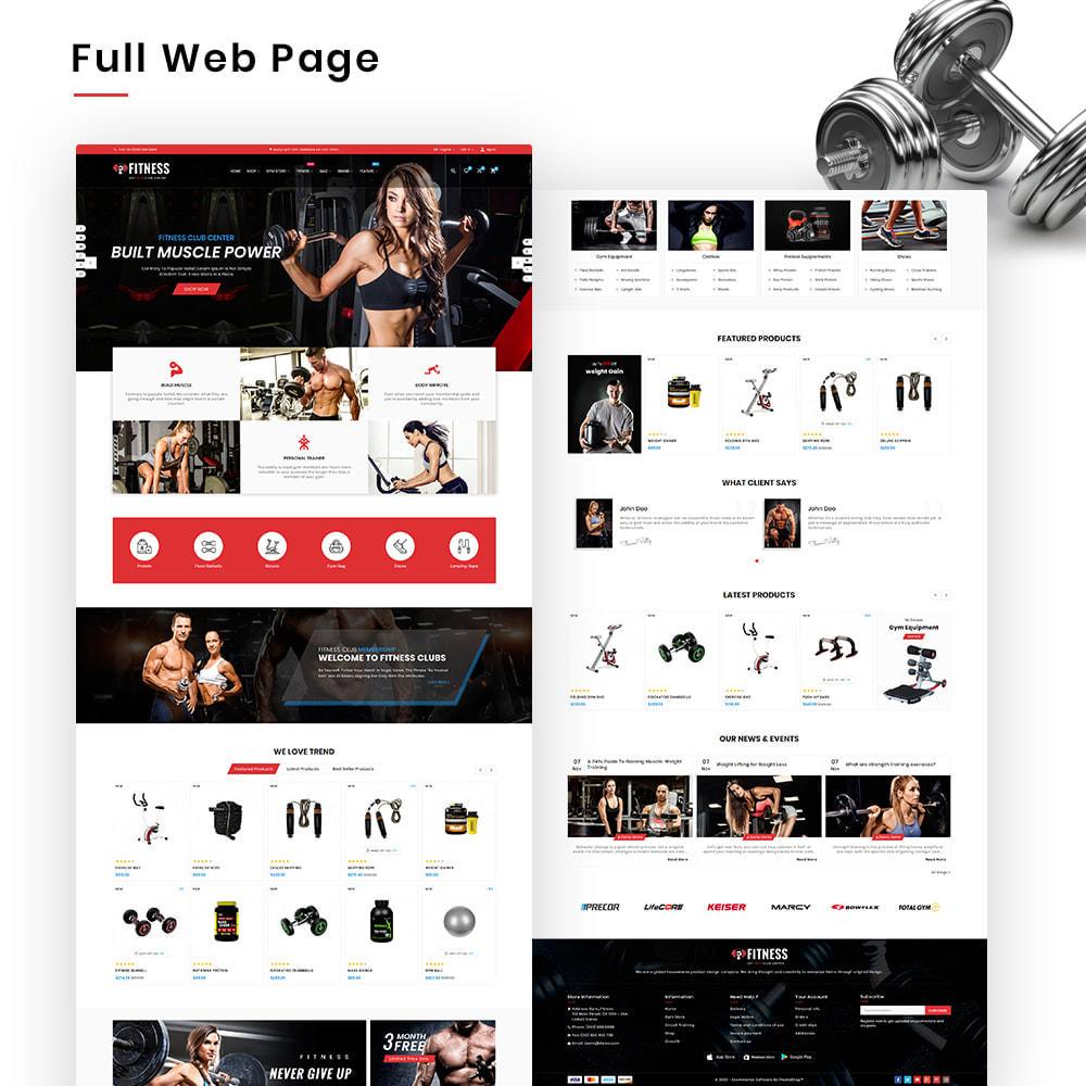 theme - Sport, Activiteiten & Reizen - Fitness Mega Gym–Sports Extreme–Nutrition Super Store - 2