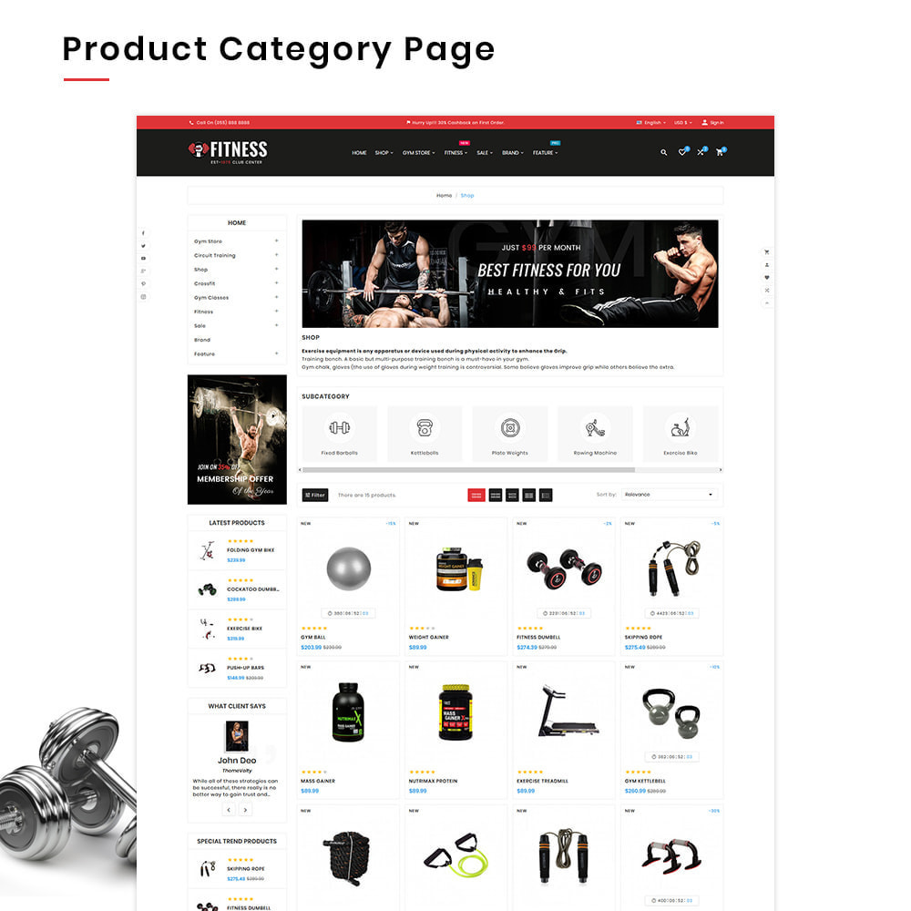 theme - Sport, Activiteiten & Reizen - Fitness Mega Gym–Sports Extreme–Nutrition Super Store - 3