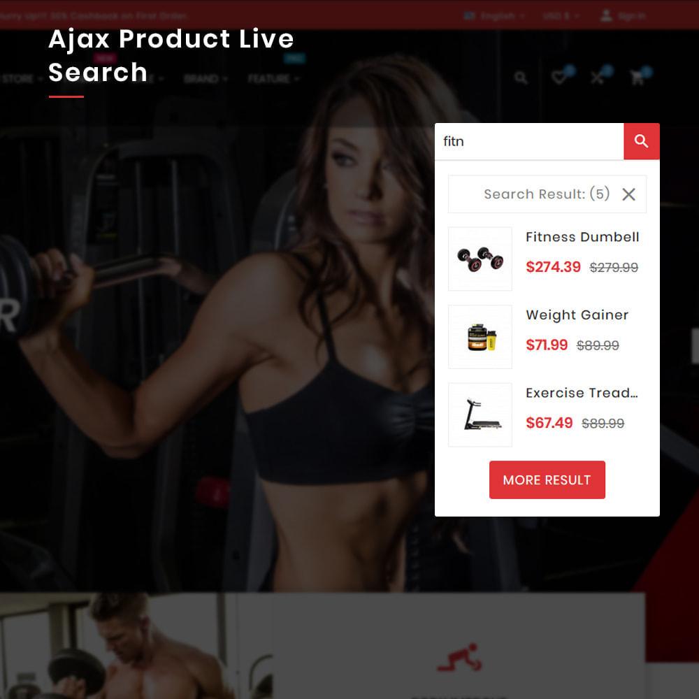 theme - Sport, Activiteiten & Reizen - Fitness Mega Gym–Sports Extreme–Nutrition Super Store - 6