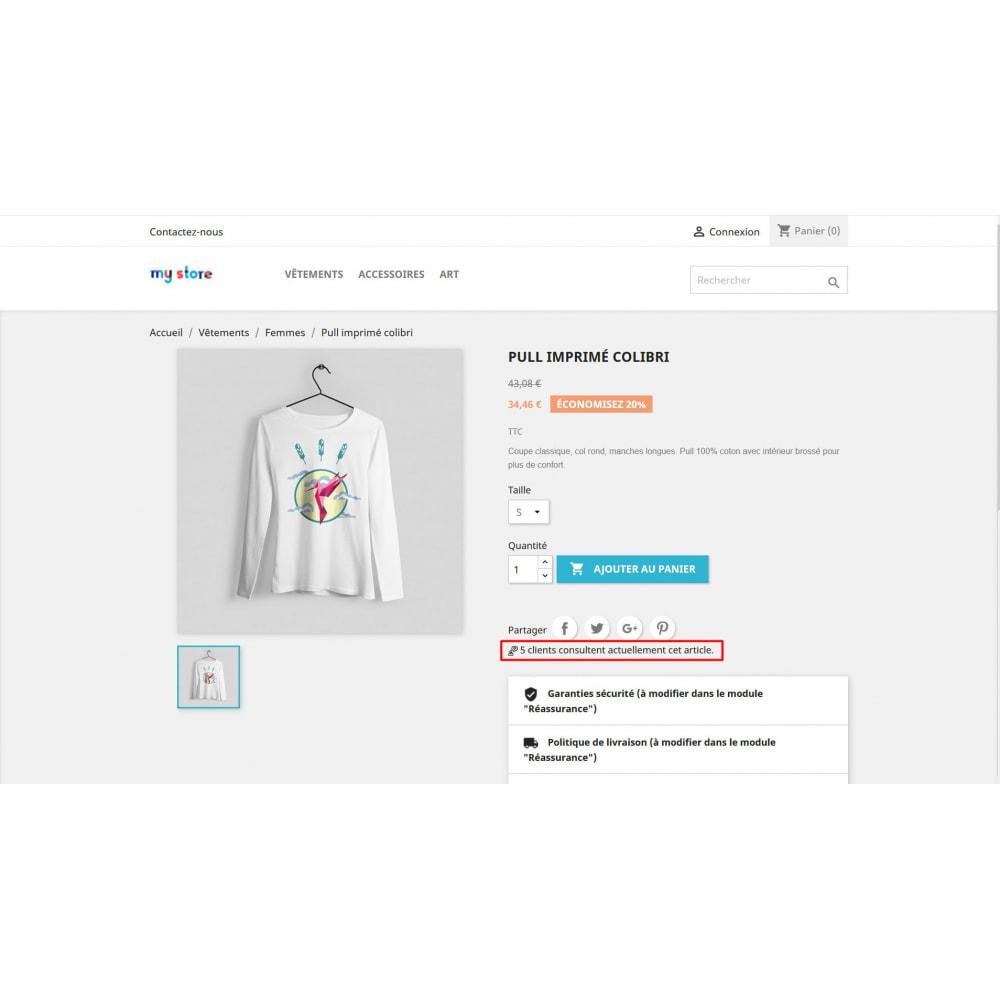 module - Information supplémentaire & Onglet produit - Compteur de visite sur la page produit - 2