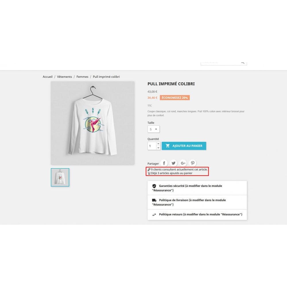 module - Information supplémentaire & Onglet produit - Compteur de visite sur la page produit - 3