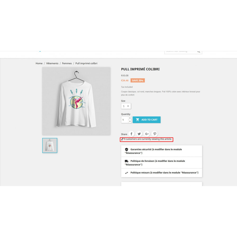 module - Additional Information & Product Tab - Visitor Counter on product page - 2