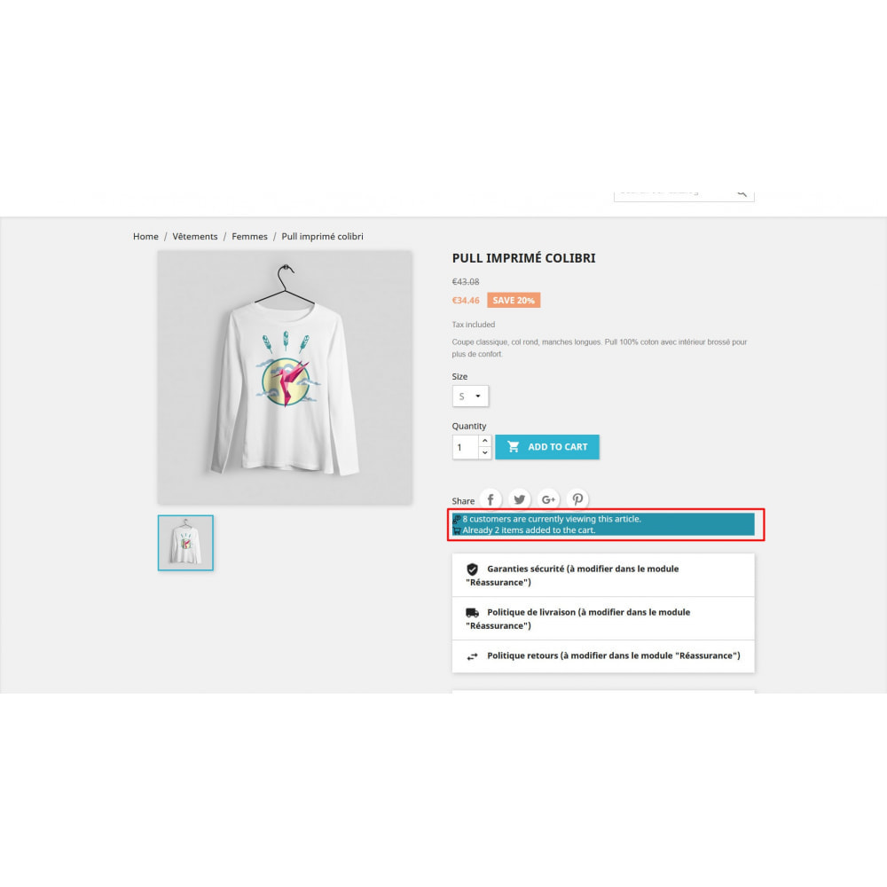 module - Additional Information & Product Tab - Visitor Counter on product page - 3